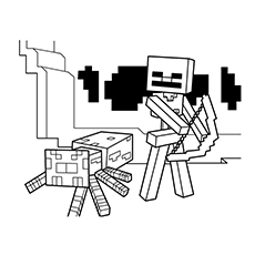 minecraft wither skeleton coloring pages