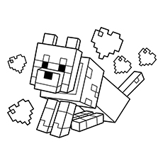 Free Printable Minecraft Wolf Coloring Page