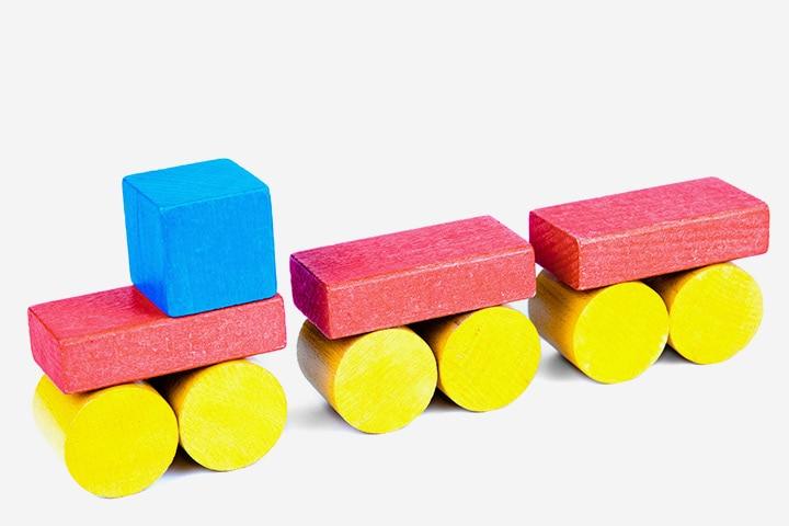 Wooden Blocks Train