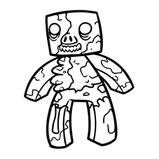 Minecraft Zombie Pigman Coloring Pages