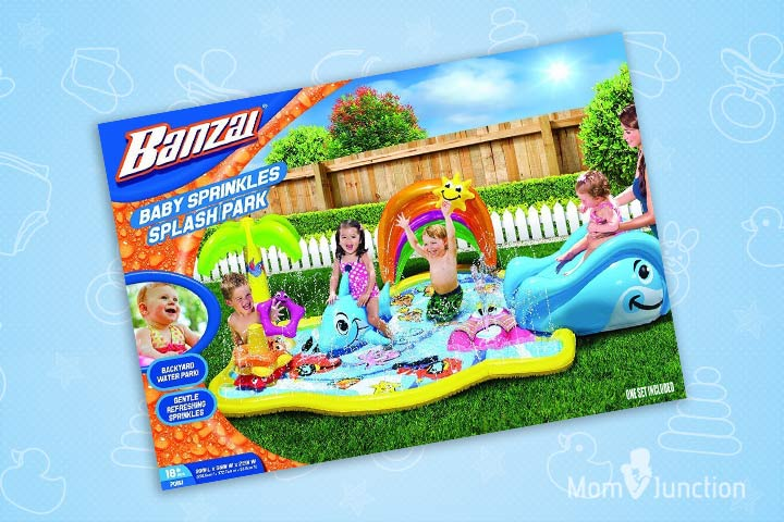Swimming Pools For Kids - Banzai Baby Sprinkles Splish Splash Water Park Sprinkling Activity Center