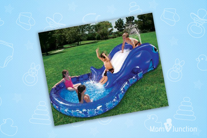 Swimming Pools For Kids - Banzai Slide N' Splash Whale Pool