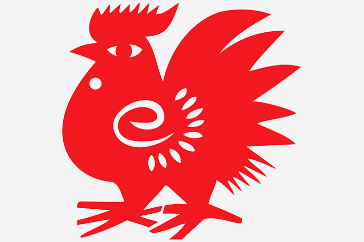 Chinese New Year Crafts - Chinese Red Rooster Paper Cut Craft
