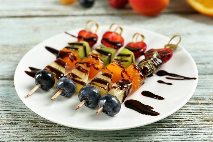 Fruit Kebabs With Blueberries