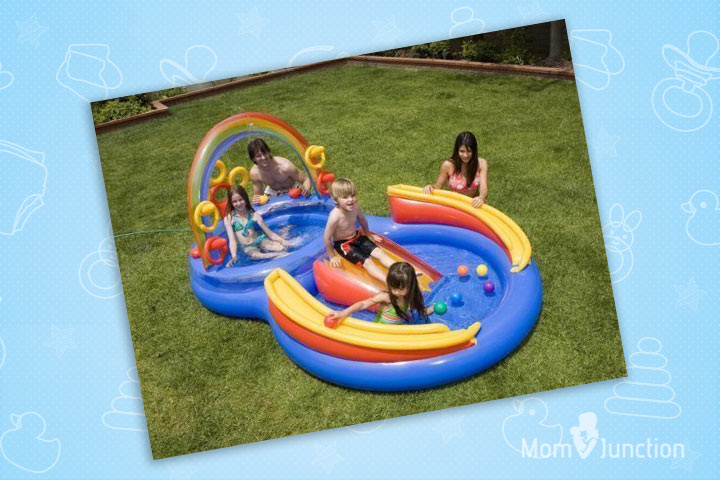 Swimming Pools For Kids - INTEX Inflatable Kids Rainbow Ring Water Play Center