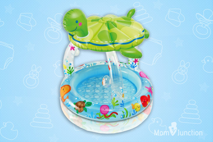 Swimming Pools For Kids - Intex Sea Turtle Shade Inflatable Baby Pool