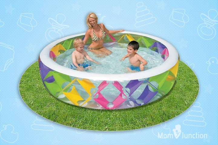 Swimming Pools For Kids - Intex Swim Center Pinwheel Inflatable Wading Pool