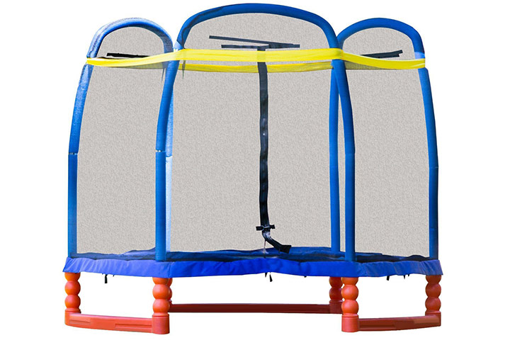 Trampolines For Kids - SkyBound Super 7 The Perfect Kid's Trampoline With Safety Net