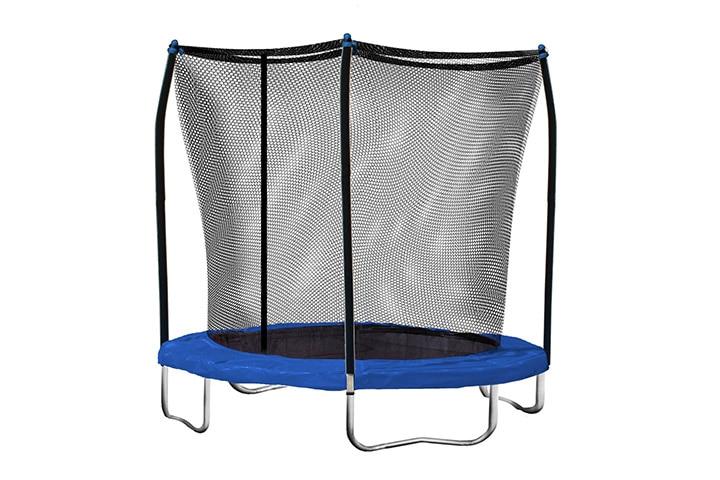 Trampolines For Kids - Skywalker 8-Feet Round Trampoline with Safety Enclosure