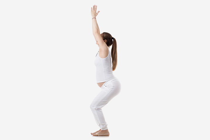 Pregnancy Yoga - The Chair Pose Or Utkatasana