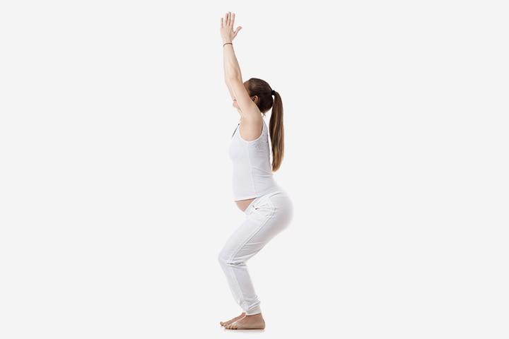 Pregnancy Yoga - The Chair Pose Or Utkatasana