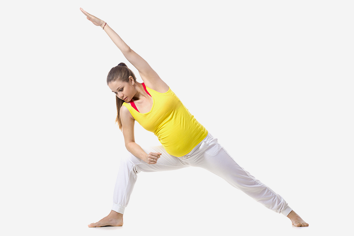 Pregnancy Yoga - The Extended Side Angle Pose