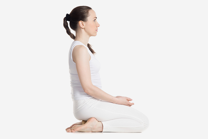 Pregnancy Yoga - The Thunderbolt Pose Or Vajrasana