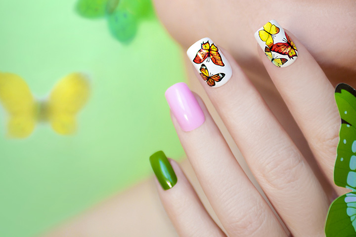 8 spectacular nail art designs for teens butterfly nail art prinsesfo Image collections