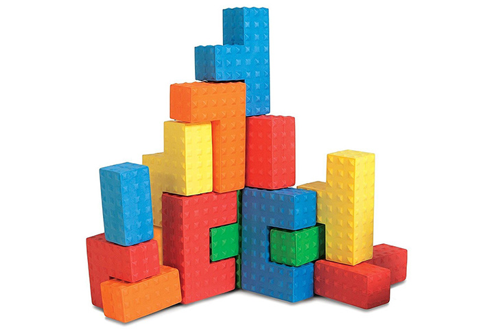 Edushape Easy-Grip Soft Foam Sensory Puzzle Blocks