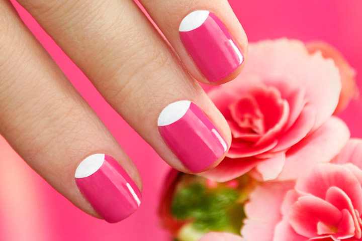 Half Moon Nail Art: - 8 Spectacular Nail Art Designs For Teens