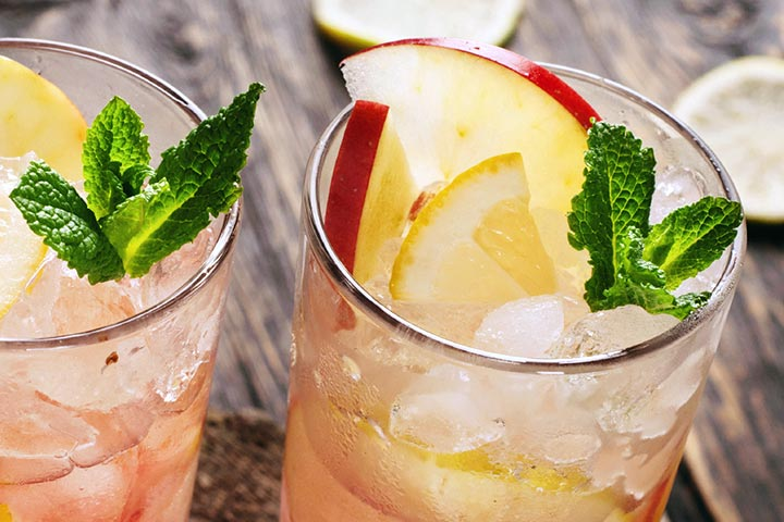 Mint And Apple Cooler