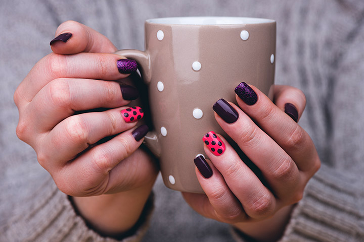 Polka Dots Nail Art: - 8 Spectacular Nail Art Designs For Teens