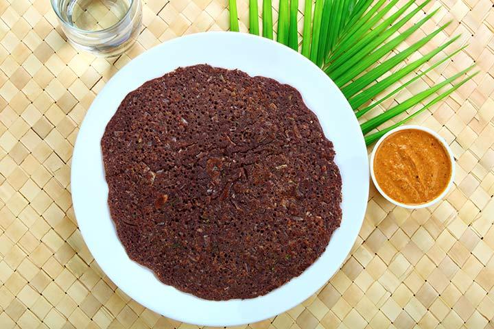 Ragi (Finger Millet) Vegetable Dosa