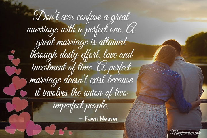 Don't ever confuse a great marriage with a perfect one