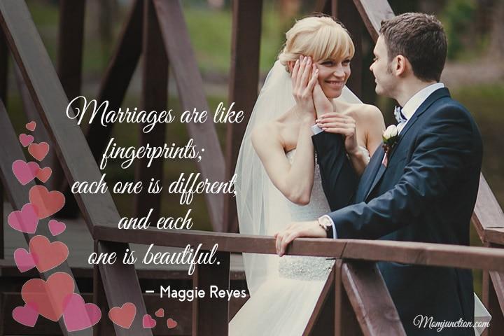 Marriages are like fingerprints