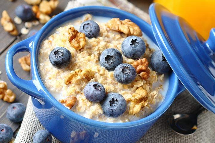 Blueberry Puree Oatmeal Mix