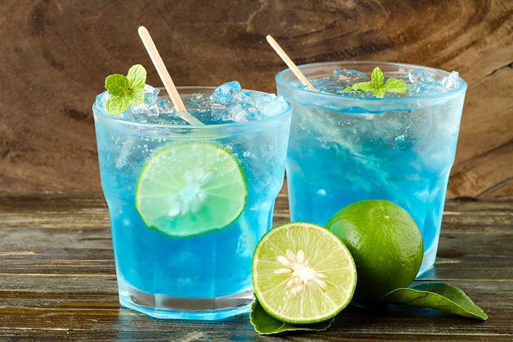 Punch Recipe of Lime and Blue for Baby Shower Party