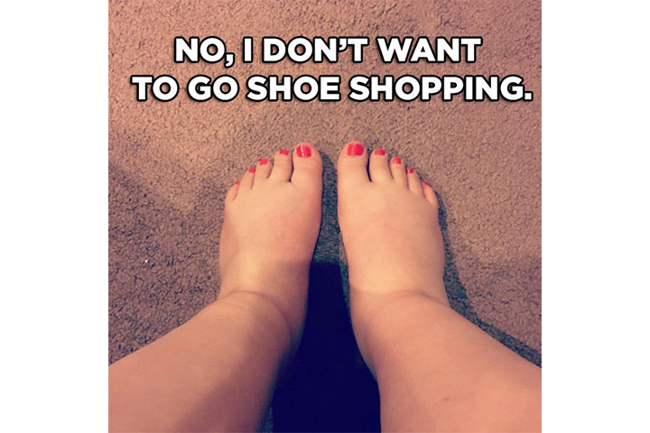 Who wants to shop for shoes with perpetually swollen feet