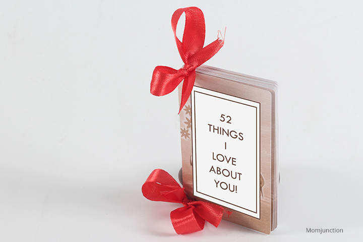 '52 Things I Love About You' Deck of Cards