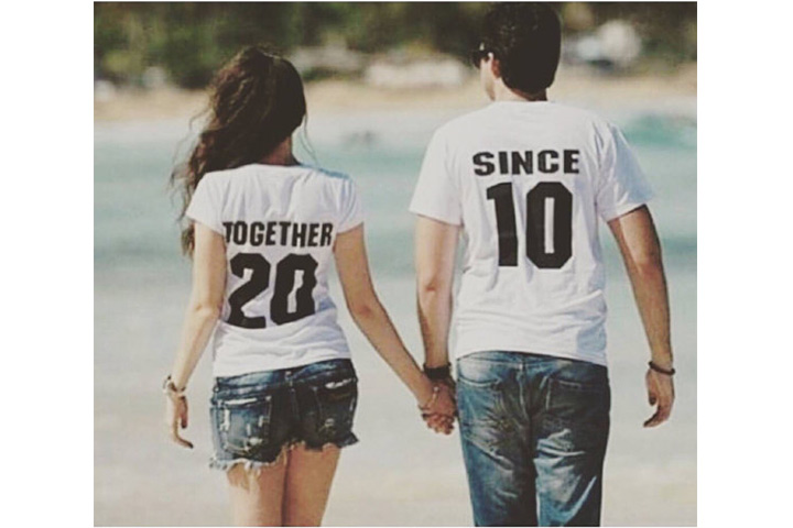 'Together Since' Printed Couples T-Shirts