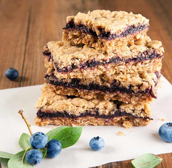 Baby Shower Blueberry Oatmeal Snacks Bars Desserts for Newmoms