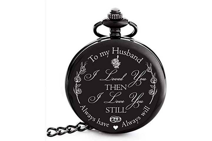 Engraved 'To my Husband' Pocket Watch