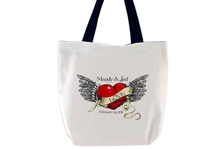 Tattoo Love Tote Bag: