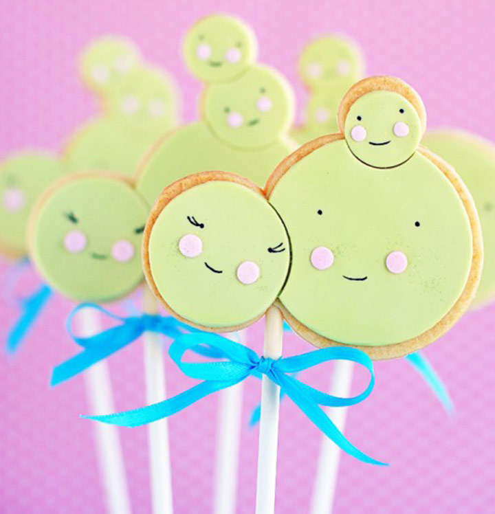 Little Pea Sugar Cookie Pops Desserts for Party