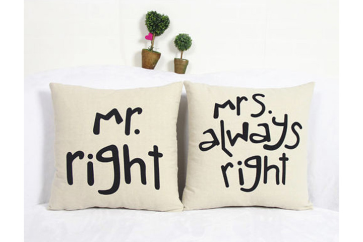 Mr & Mrs. Couple Cushion Covers