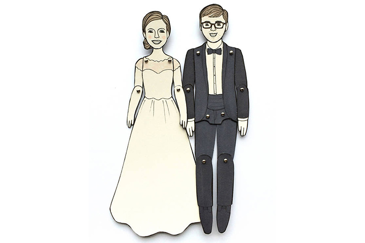 Personalized Paper Doll Portraits For Anniversary