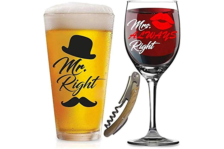 Right and Mrs. Always Right Glasses