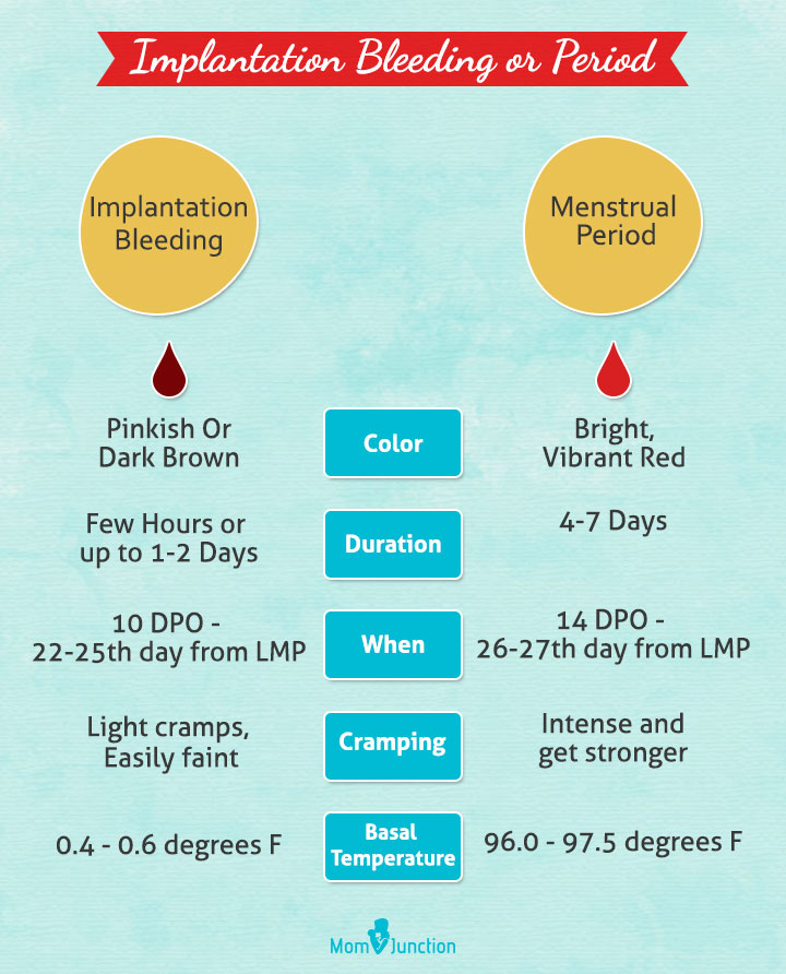 Implantation Bleeding vs Menstrual Period