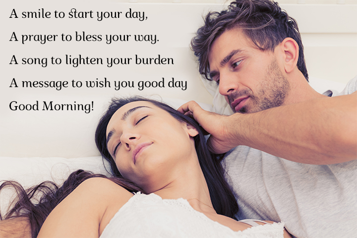 Romantic Things to Say to Your Wife in the Morning - A smile to start your day