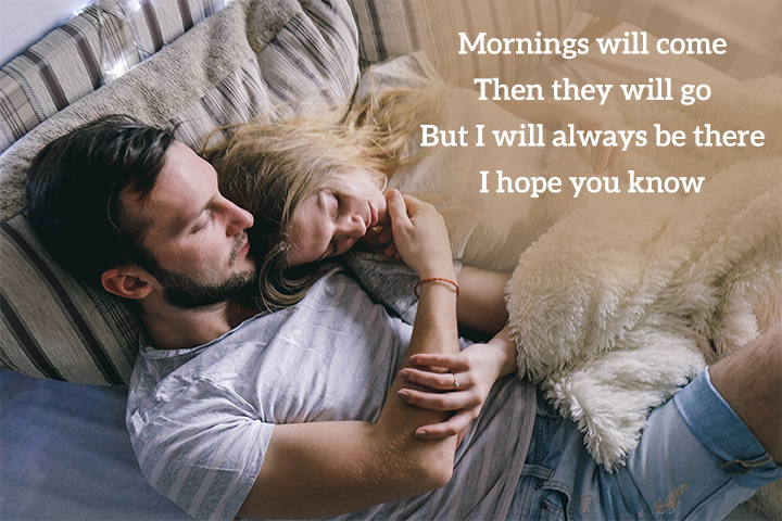 Romantic Good Morning Poems for Wife - Mornings will come
