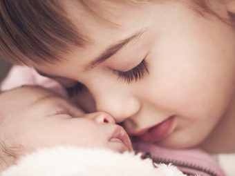Adorable Picture Shows Little Girl 'Nursing' Her New Baby Sister