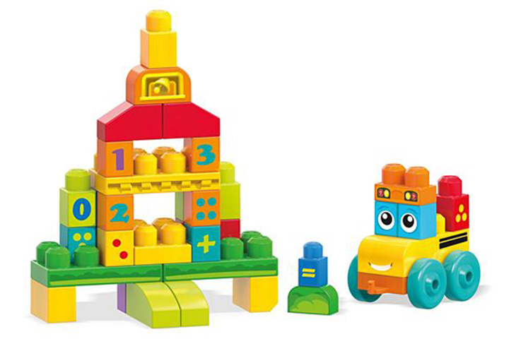 Mega Bloks First Builders 123 Bus by Fisher Price