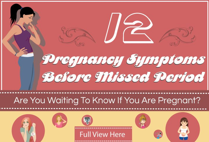 pregnanacy symptoms before missed period
