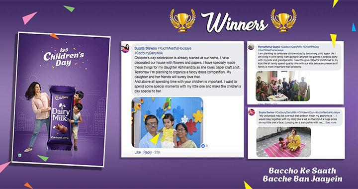 Cadbury MomJunction Children's Day Contest Winners