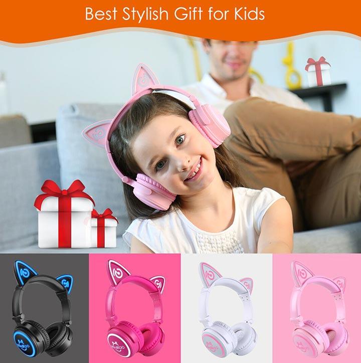 MindKoo Unicat Wireless Headphones Kids' Best Stylish Gift And Companion