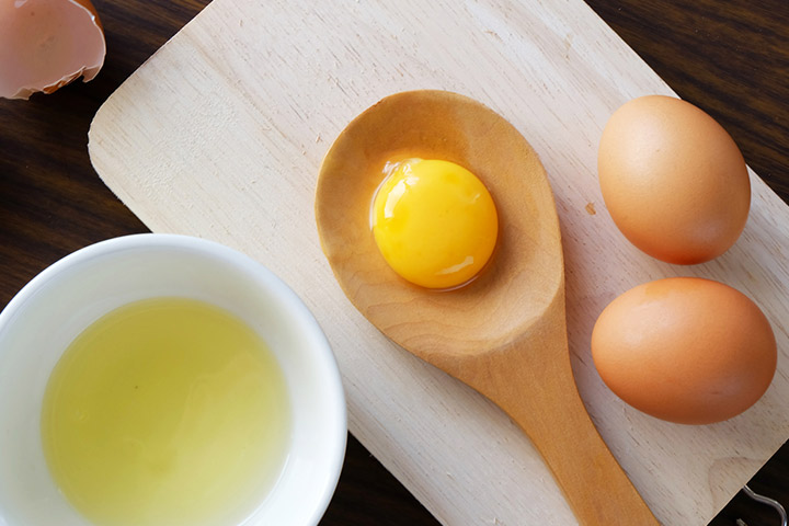 A Homemade Pack With Cucumber Juice And Egg Yolk