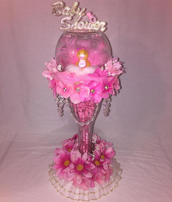 Just girly baby shower centerpiece