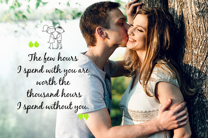 Long Distance Relationship Trust Quotes - Spend with you are worth the thousands hours.