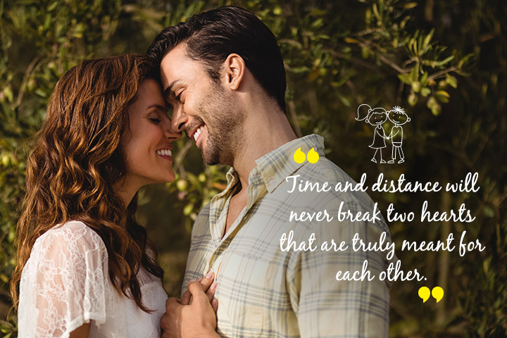 LDR Quotes for Couples - Time and Distance will never Break Two Hearts