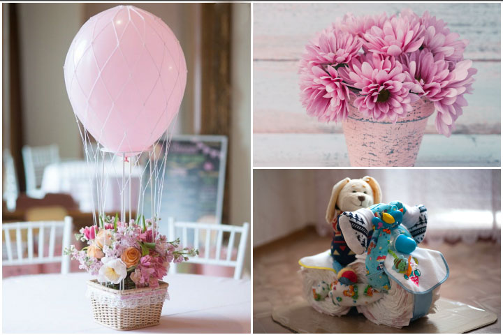 Baby Girl Elephant Centerpieces